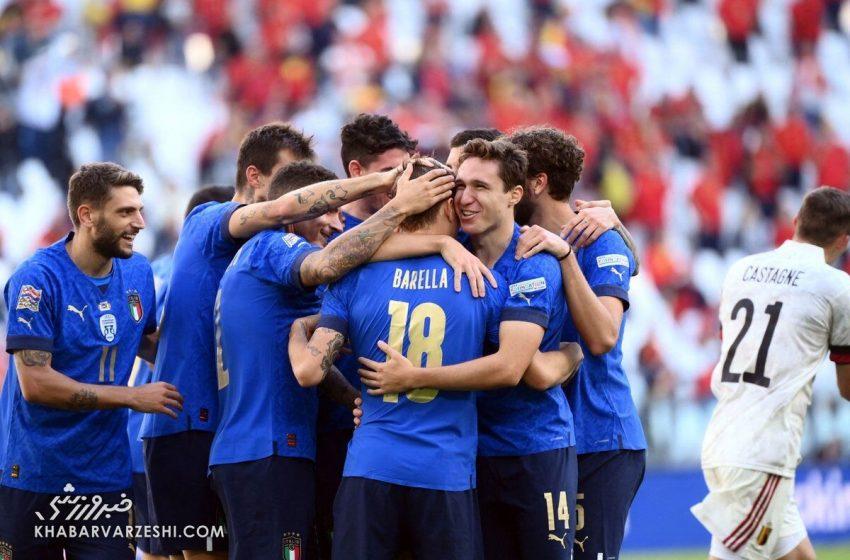 ایتالیا ۲ – بلژیک ۱/ آتزوری بر پله سوم ایستاد