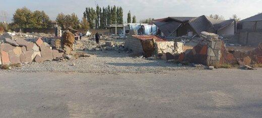 تخریب ۸ ویلای غیرمجاز در چهارباغ استان البرز